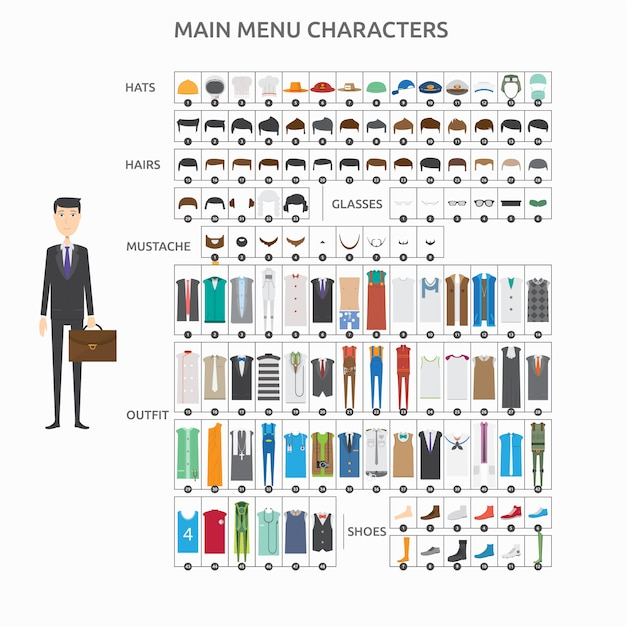 Fashion characters collection Free Vector