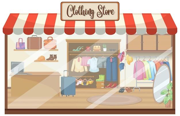 Фон магазина модной одежды Бесплатные векторы