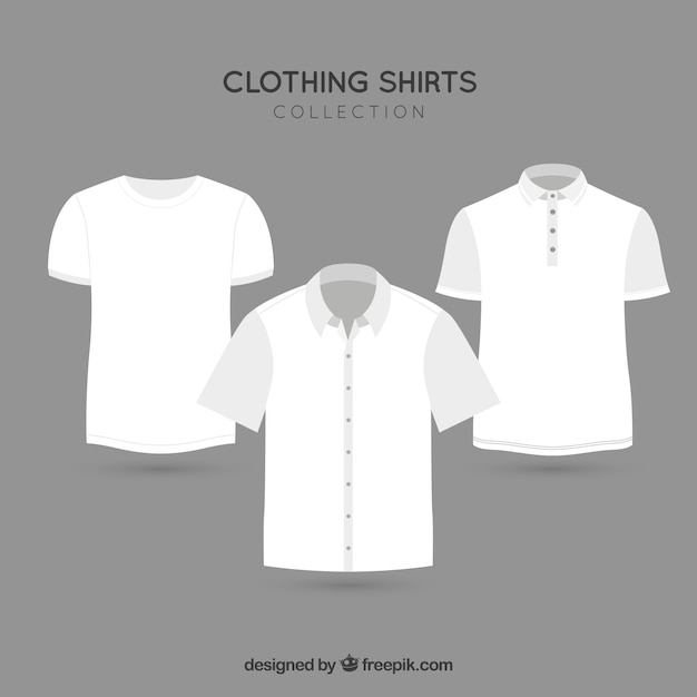 Fashion clothing t-shirt vector pack Free Vector