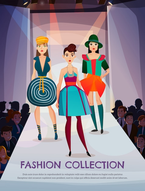 Fashion collection illustration Free Vector