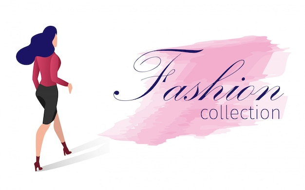 Fashion collection vector illustration cartoon. Premium Vector
