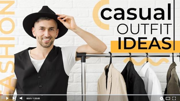 Miniatura di moda concetto youtube Vettore gratuito
