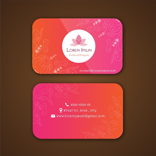 Fashion designer business card Vector | Free Download