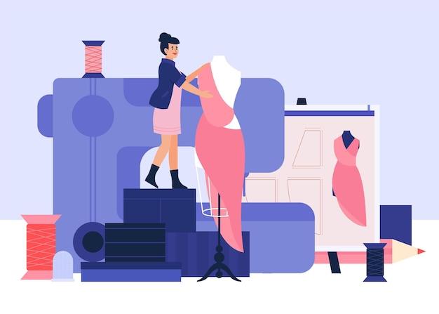 Illustrazione disegnata a mano di stilista di moda Vettore gratuito