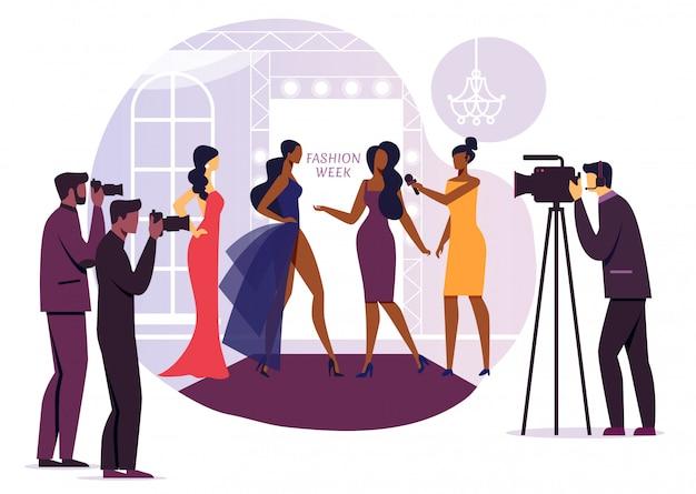 Fashion Designer Interview Vector Illustration Premium Vector