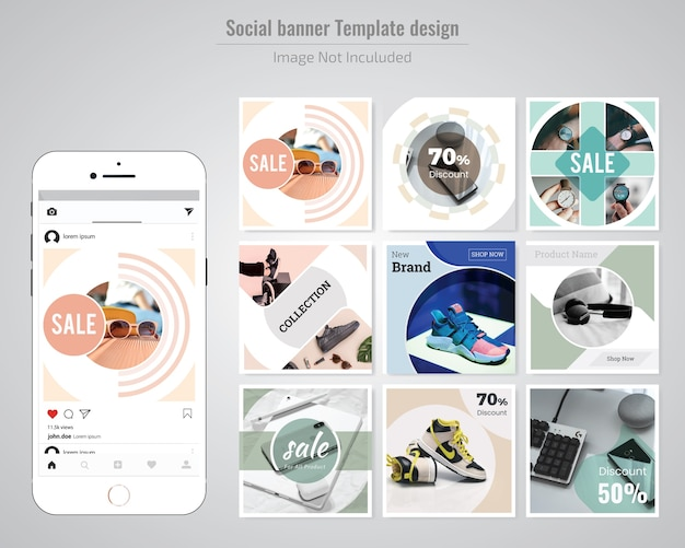 Fashion Discount Social Media Post Template Premium Vector