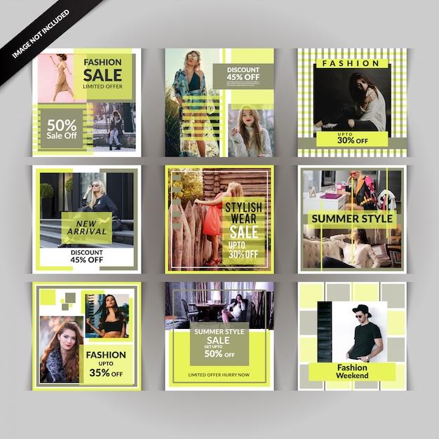 Fashion discount social media post Premium Vector