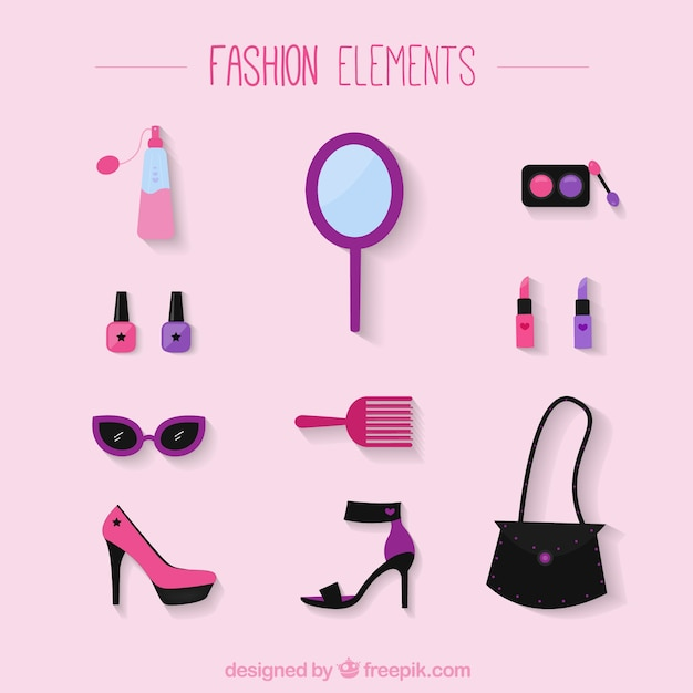 Fashion Elements Vector Free Download