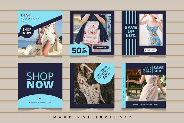 Коллекция баннеров для социальных сетей fashion fashion Premium векторы