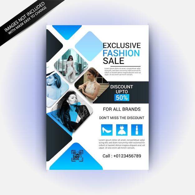 fashion flyer template premium vector - Fashion Brochure Template
