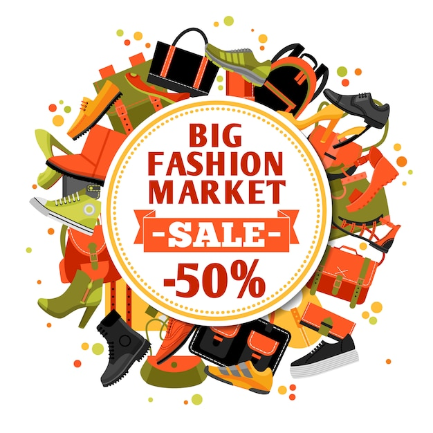 Fashion footwear sale Free Vector