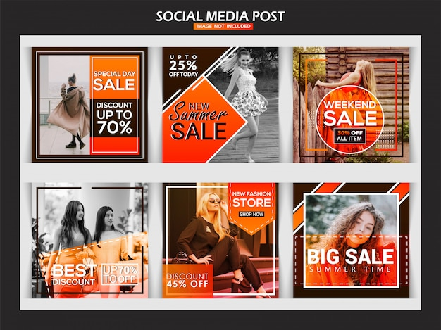 Fashion instagram banner for digital marketing Premium Vector