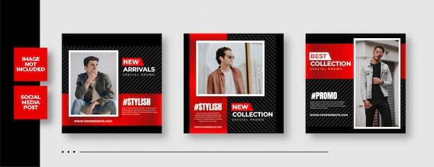 Fashion instagram sale social media square banner template Premium Vector