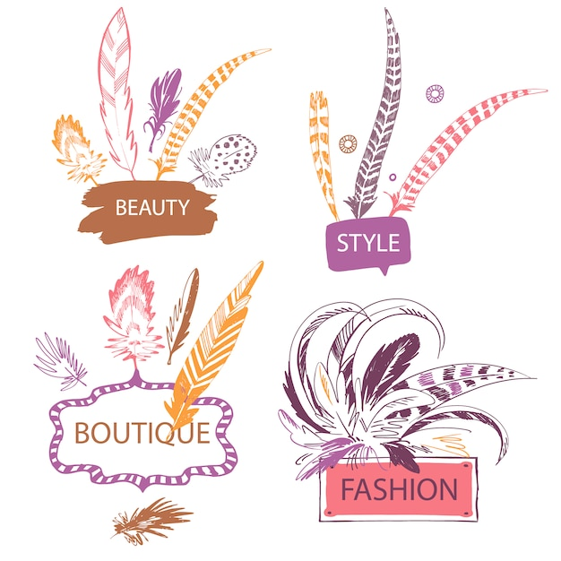 Fashion logo collection Vector | Free Download