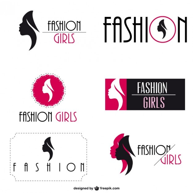 Fashion Logo Visual Identity Set Free Vector