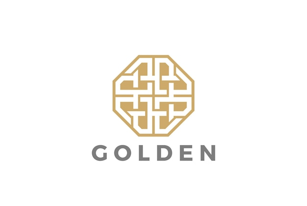 Fashion luxury jewelry logo  icon. linear style Free Vector