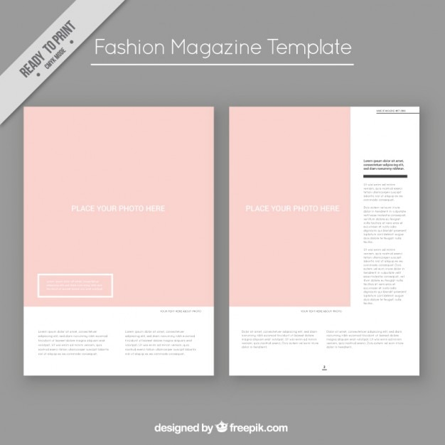 Fashion magazine template Vector | Free Download