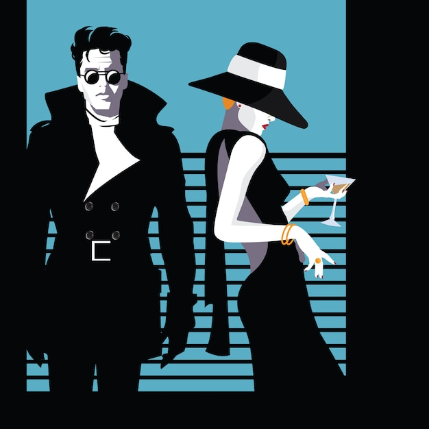 Fashion man and woman in style pop art. vector illustration Premium Vector