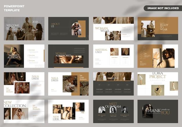 Шаблон презентации модных минималистичных слайдов Premium векторы