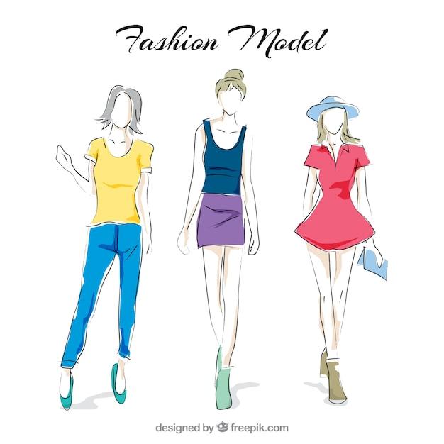 Fashion models Free Vector