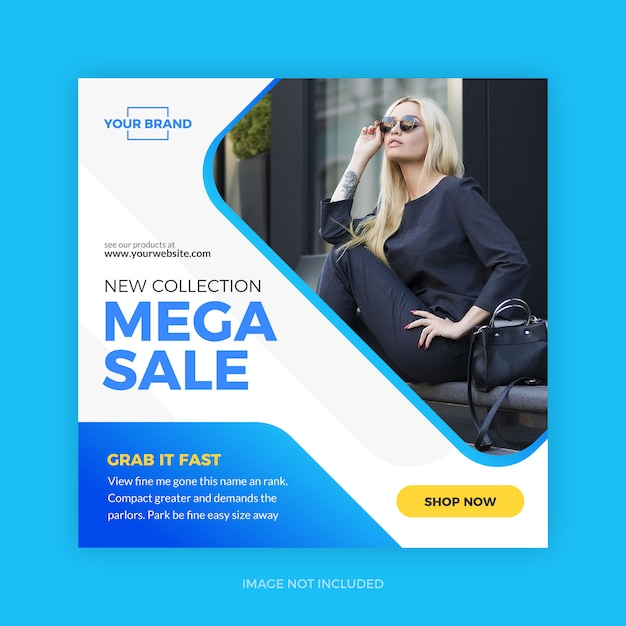 Fashion new collection discount banner Premium Vector