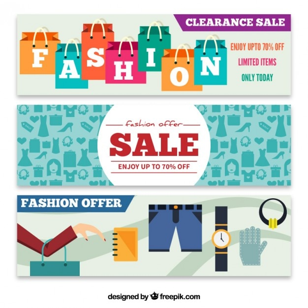 fashion offer banners vector premium download