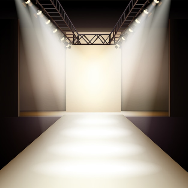 Fashion runway background Free Vector