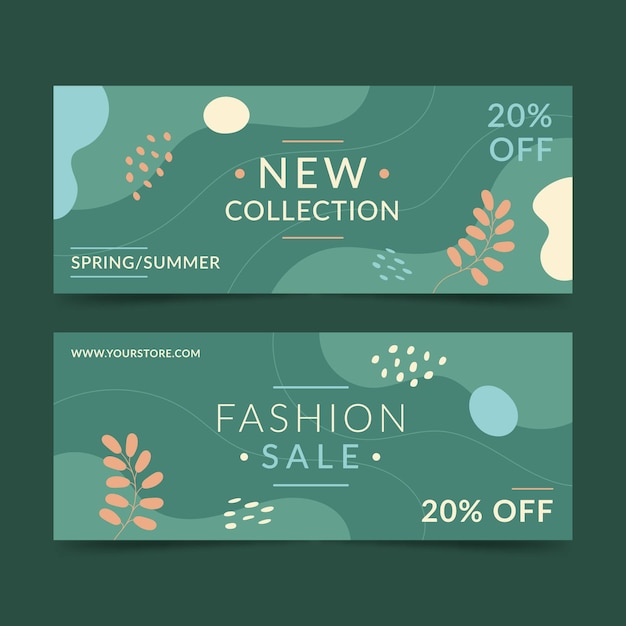 Fashion sale banner template Free Vector