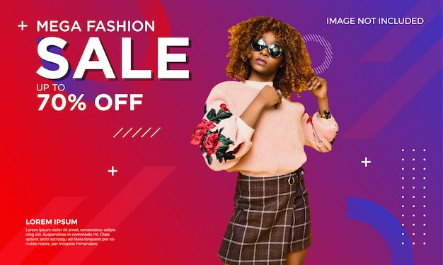 Fashion sale banner template Premium Vector