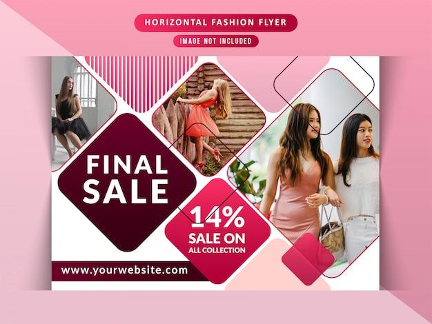 Fashion sale horizontal flyer Premium Vector
