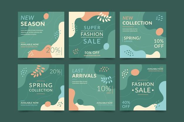Мода продажа инстаграм пост коллекция Premium векторы
