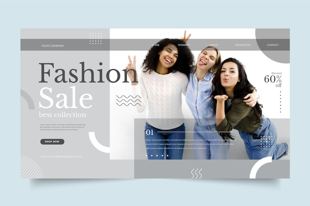 Модная распродажа Бесплатные векторы