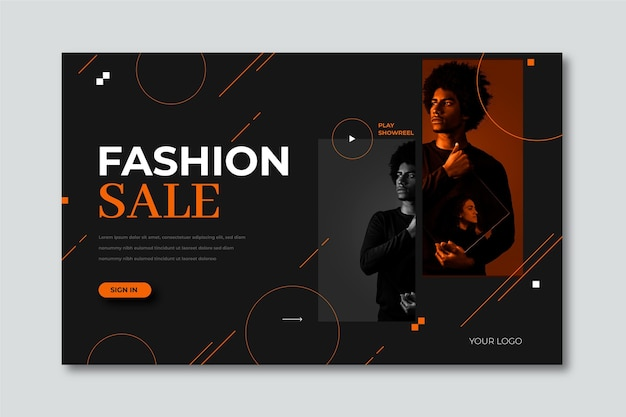 Saldi moda - landing page Vettore gratuito