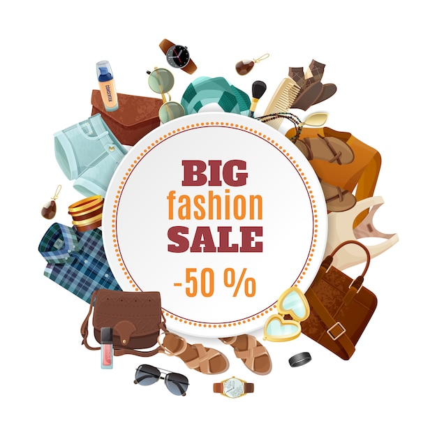 Fashion sale poster Free Vector