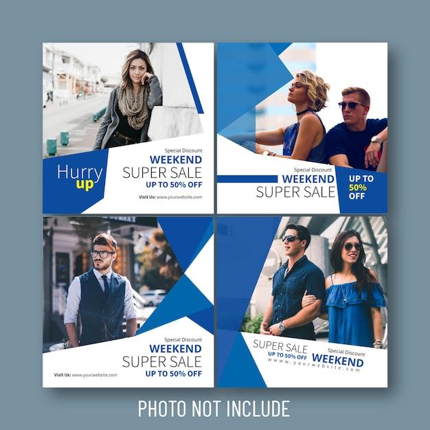 Fashion sale social media & web banners Premium Vector