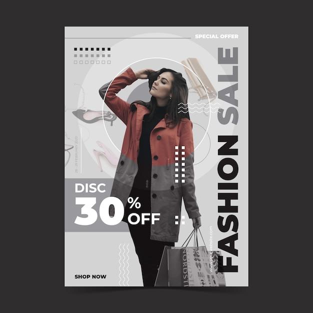 Free Vector Fashion Sale Template Concept