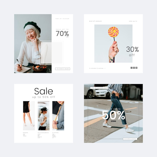 Fashion sale template Free Vector