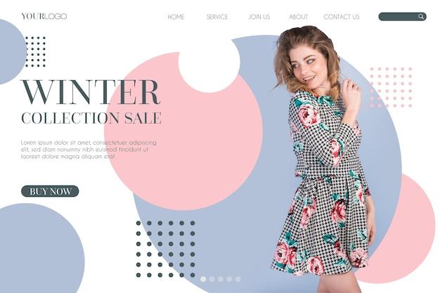 Tema webtemplate di vendita di moda Vettore gratuito