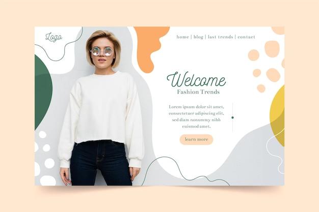 Мода продажа веб-шаблон Бесплатные векторы