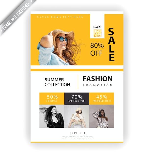 Fashion sales flyer Free Vector