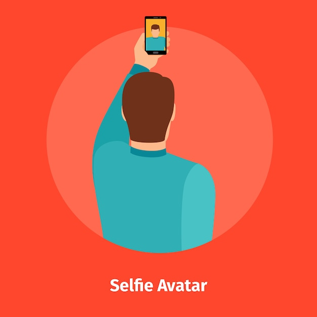 Fashion selfie view for mobile app Premium Vector