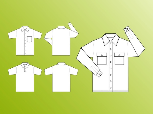 Fashion shirt design templates vector vector free download for Fashion designing templates free download