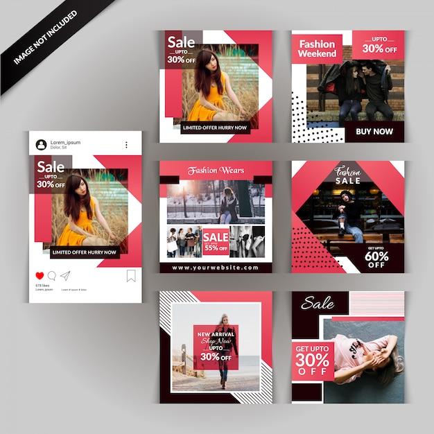 Fashion social media post for digital marketing Premium Vector