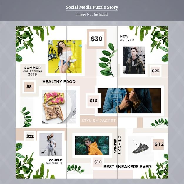 Fashion social media post template story Premium Vector