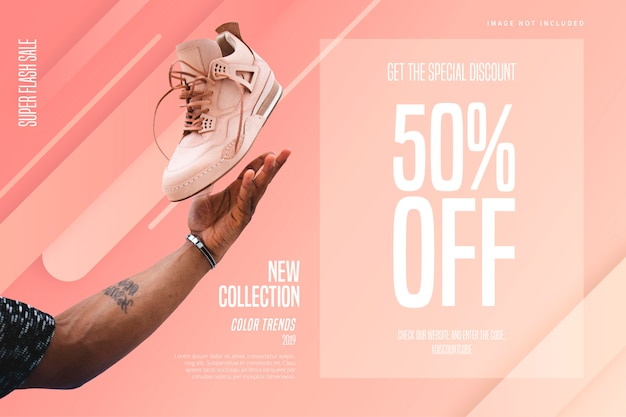 Fashion store banner template Free Vector