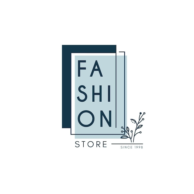 Fashion store logo template Free Vector