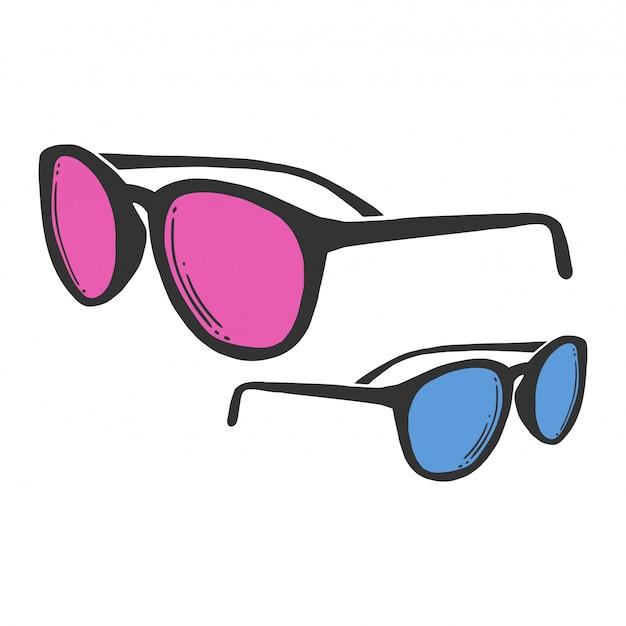 Fashion sunglasses. Premium Vector