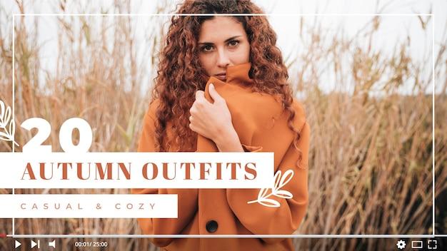 Modello di anteprima di youtube per fashion vlogger Vettore gratuito