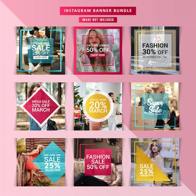 Fashion web banner for social media Premium Vector
