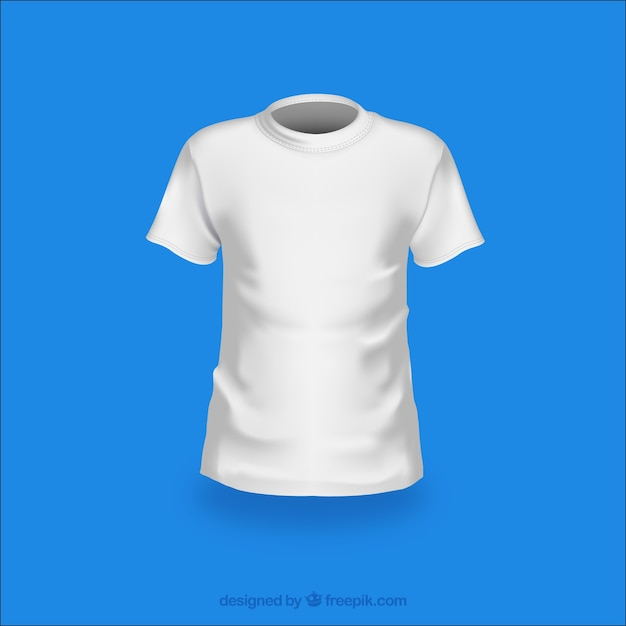 Fashion white t-shirt vector pack Free Vector